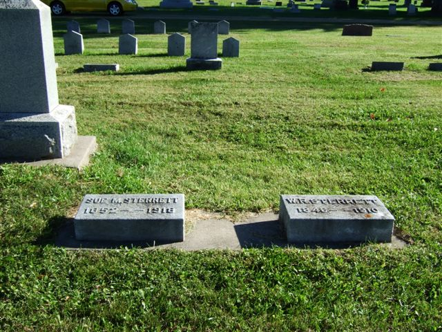 William and Susan Sterrett's graves